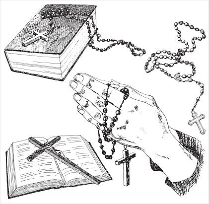 Hand drawn christian signs.