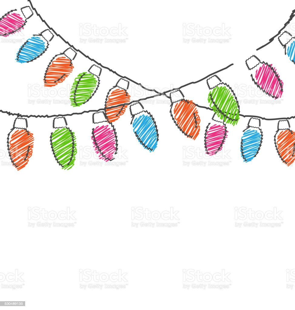 hand drawn christmas lights isolated on white stock illustration download image now istock https www istockphoto com vector hand drawn christmas lights isolated on white gm530489135 54610420