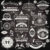 Hand Drawn Christmas Ornaments & Labels