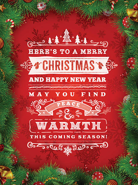 Hand Drawn Christmas Wishes A hand drawn christmas themed label design. EPS 10 file, with transparencies, layered & grouped. candy borders stock illustrations