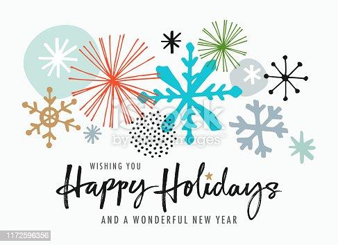 istock Hand Drawn Christmas-Holiday Greeting Card 1172596356