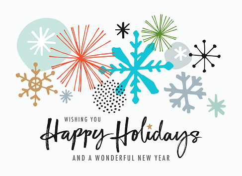 Hand Drawn Christmas-Holiday Greeting Card