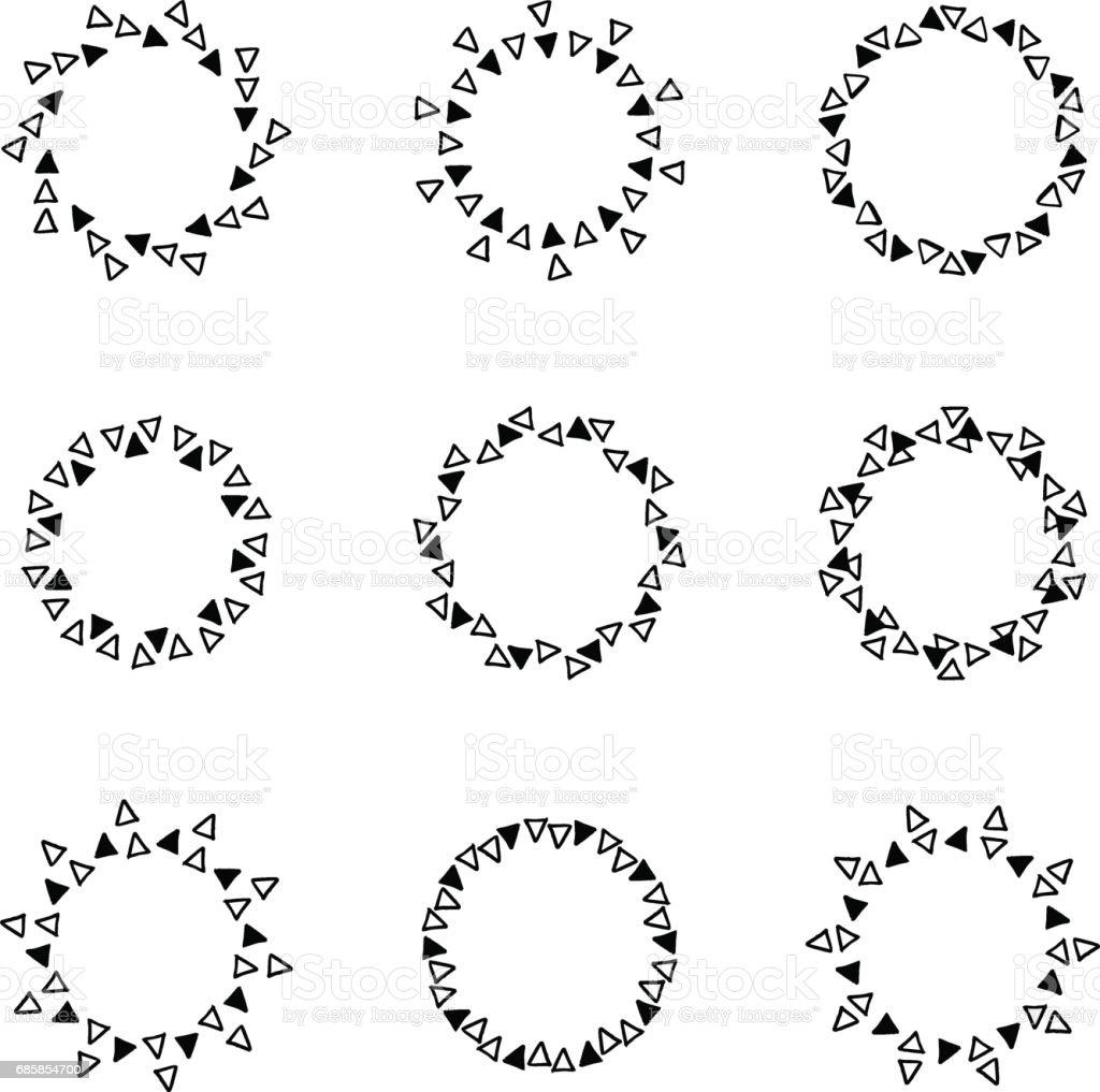 Handgezeichnete Kreis Rahmen Stock Vektor Art und mehr Bilder von ...