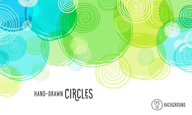 bildbanksillustrationer, clip art samt tecknat material och ikoner med handritad cirklar bakgrund - nöje