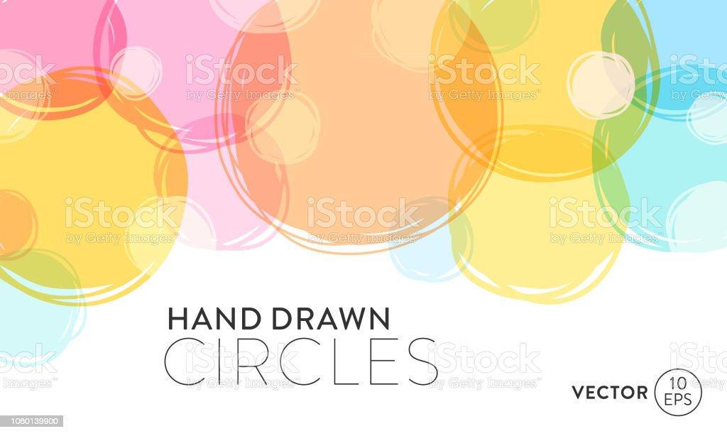 Hand Drawn Circles Background vector art illustration
