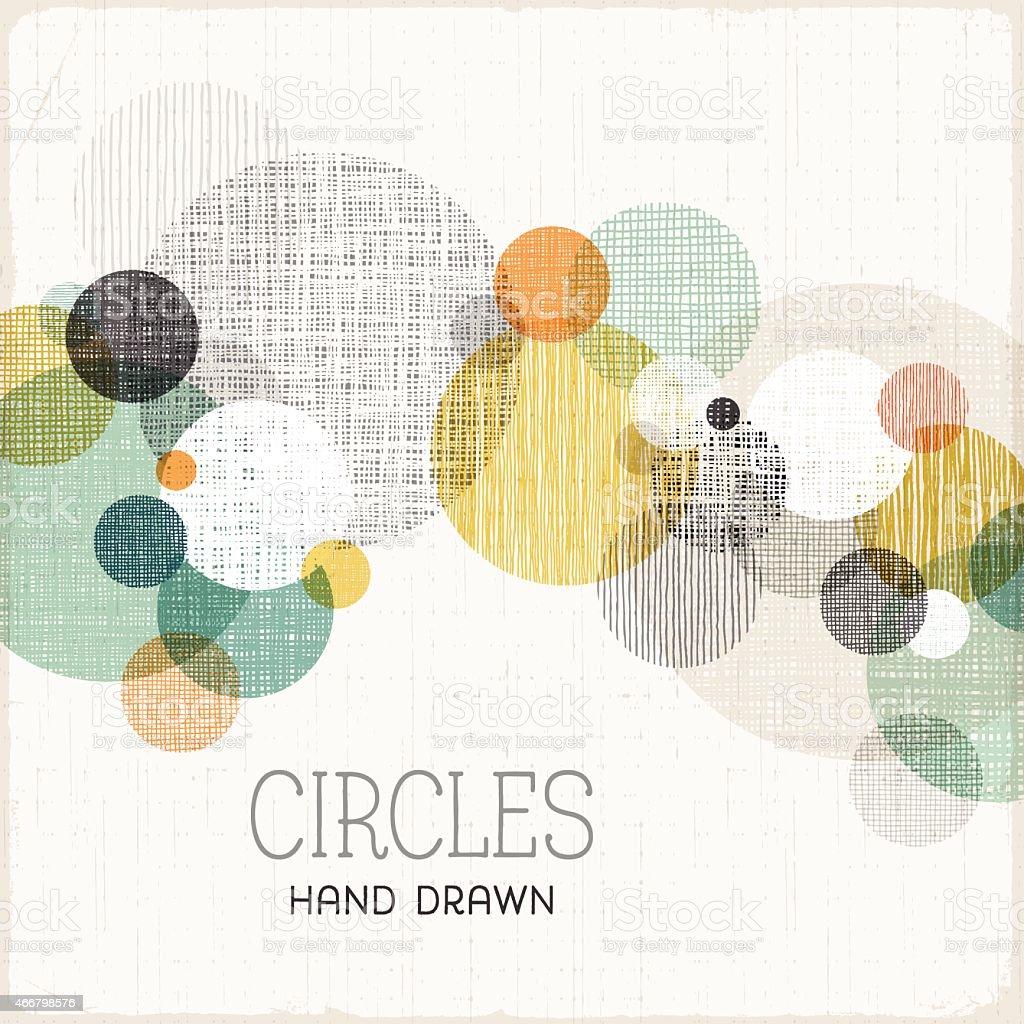 Hand Drawn Circles Background