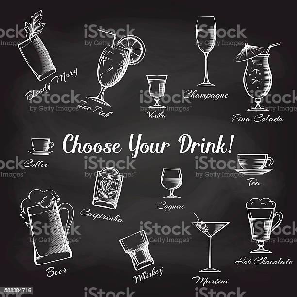 Hand drawn cocktails set on chalkboard vector id588384716?b=1&k=6&m=588384716&s=612x612&h=qnezqzkbqoaxuli2b9tk3k pjzyvyrglgyjygc3p8mq=