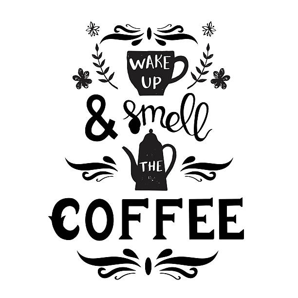 Hand drawn coffee poster vector art illustration