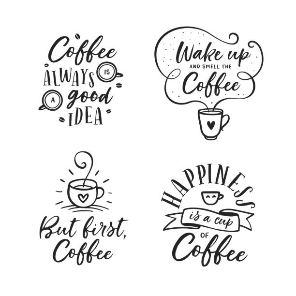 Royalty Free Coffee Quotes Clip Art Vector Images Illustrations
