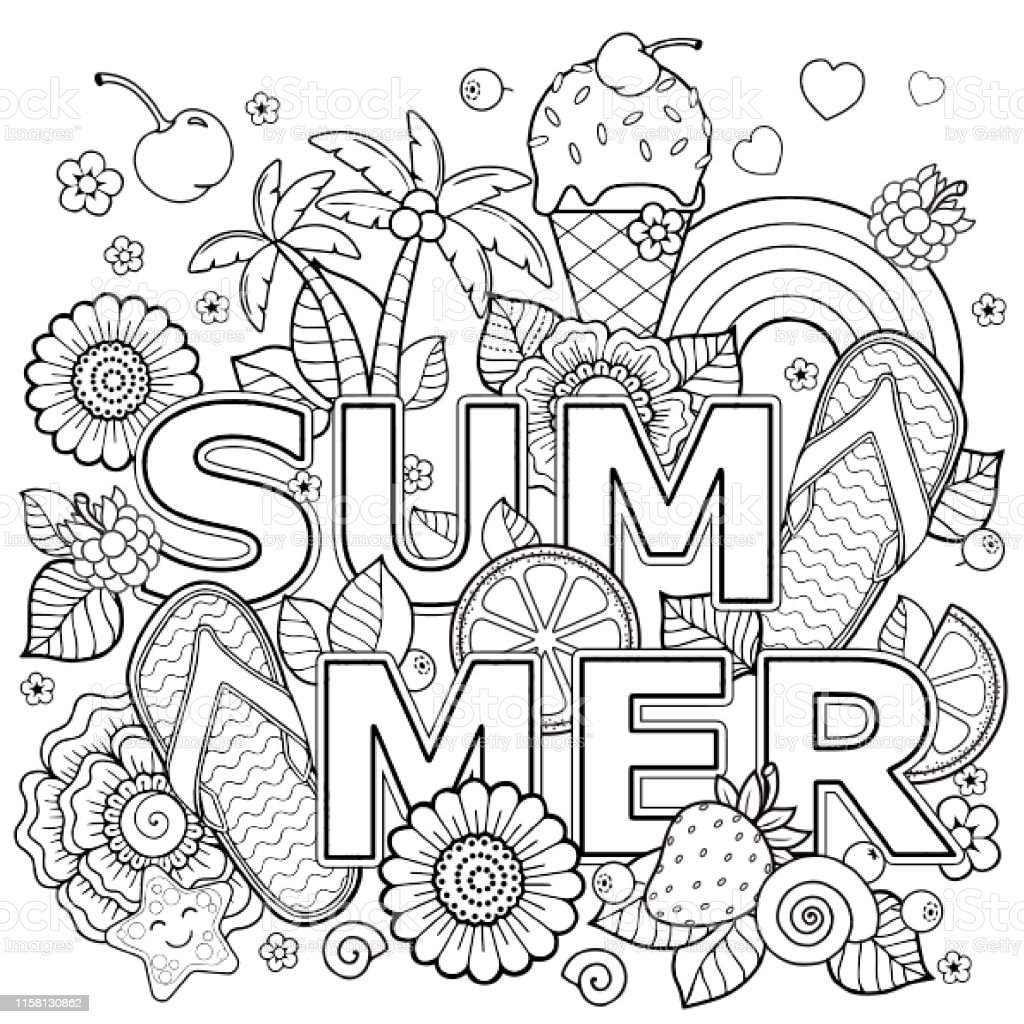 12,510 Summer Coloring Book Stock Photos, Pictures & Royalty-Free Images -  IStock