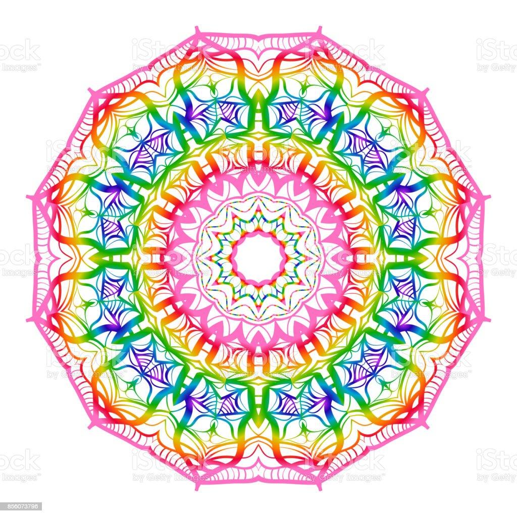 Ilustración De Dibujado A Mano Para Colorear Mandala