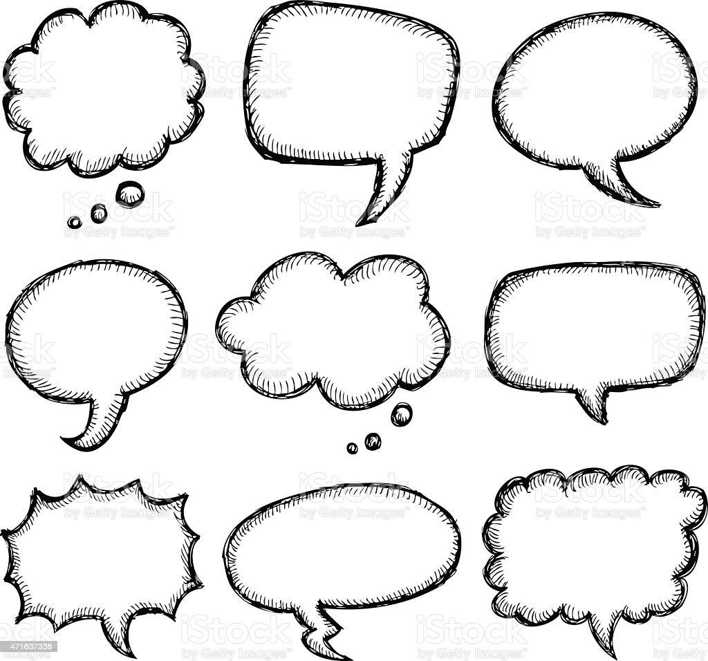 hand drawn comic speech bubble stock vector art more images of rh istockphoto com speech bubble vector free download speech bubble vector