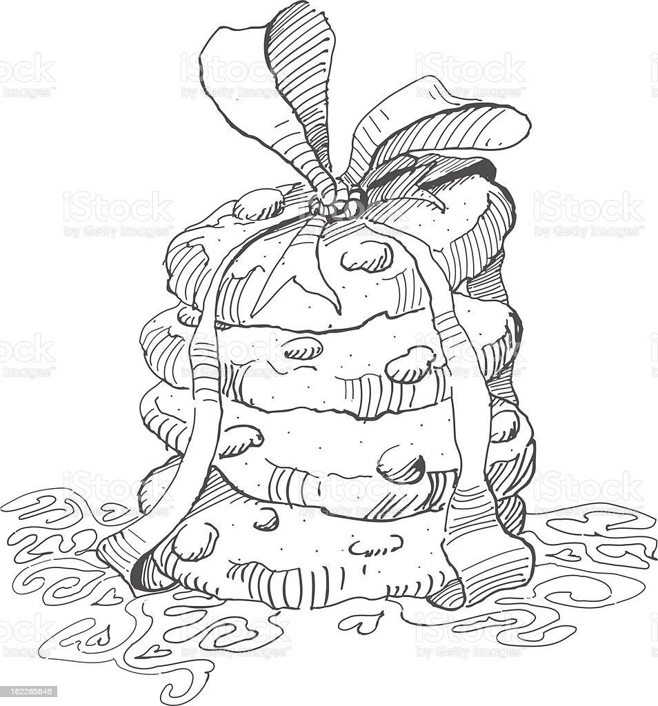 Hand drawn cookies stack vector art illustration