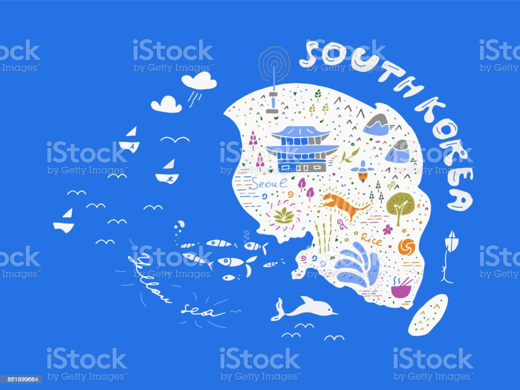 Hand drawn country map of korea vector illustration design stock hand drawn country map of korea vector illustration design royalty free hand drawn country biocorpaavc Image collections