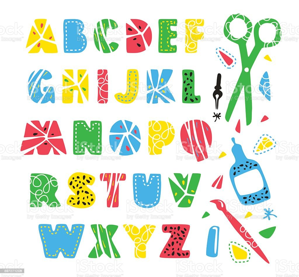 Hand drawn creative alphabet royalty-free hand drawn creative alphabet stock vector art & more images of alphabet
