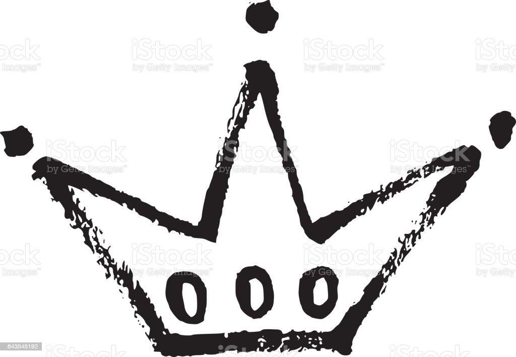 hand drawn crown icon stock vector art more images of art rh istockphoto com crown clip art vector queens crown vector art