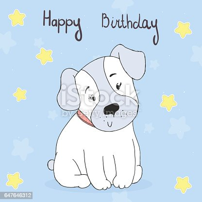 Image result for Birthday dog blue animated