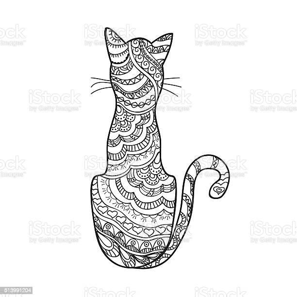 Hand drawn decorated cartoon cat vector id513991204?b=1&k=6&m=513991204&s=612x612&h=sin 9fcsilovzzucjfmnbdtqnn ycslblxkd88zxuac=