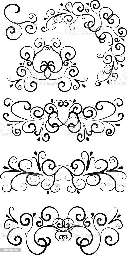 Hand drawn decorative elements royalty-free stock vector art