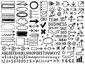 istock Hand drawn design elements 1216268210