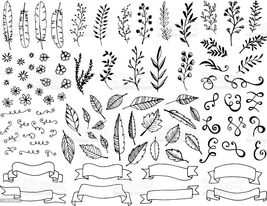 Hand gezeichnete design-Elemente – Vektorgrafik