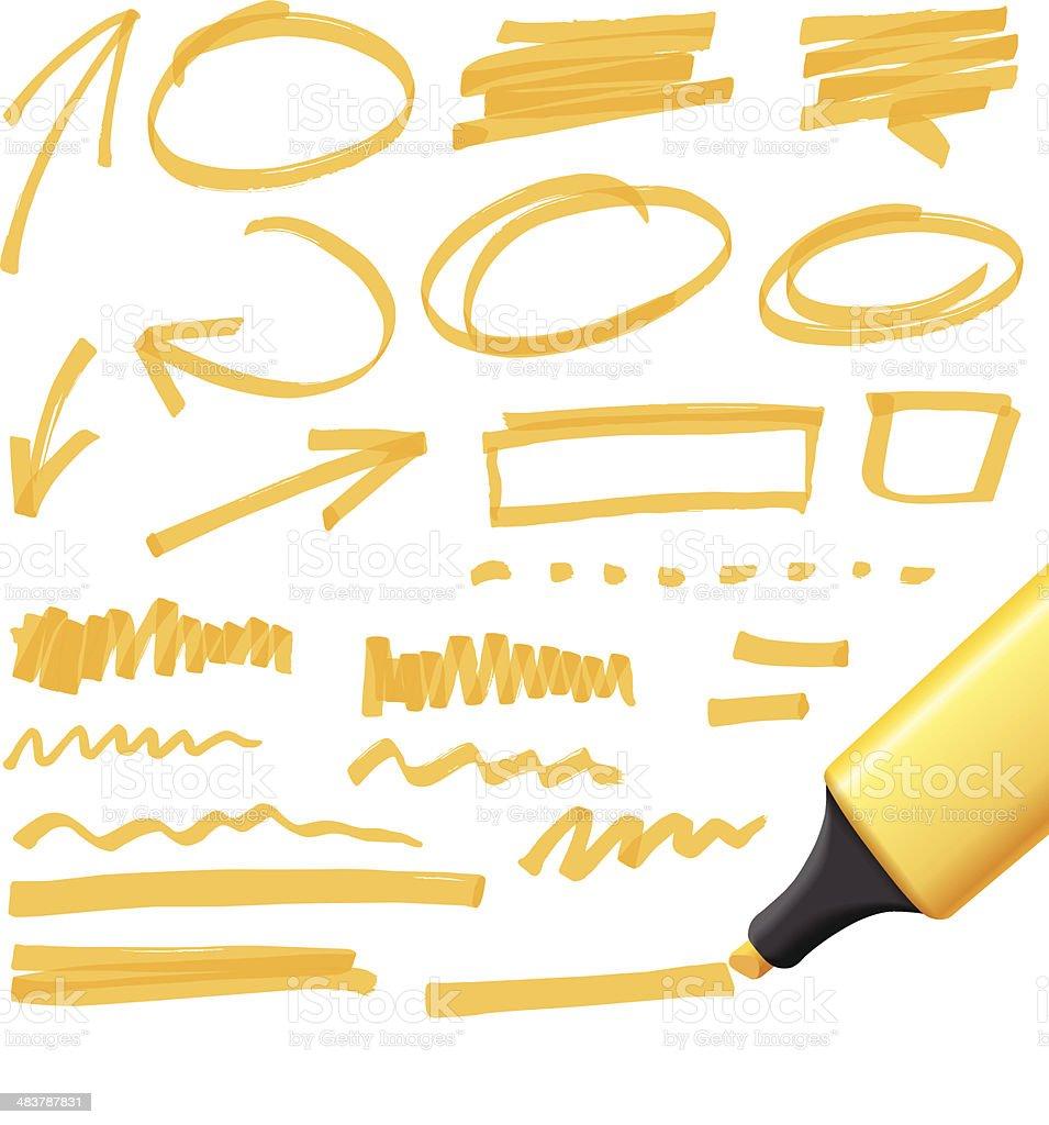 hand drawn design elements royalty-free stock vector art