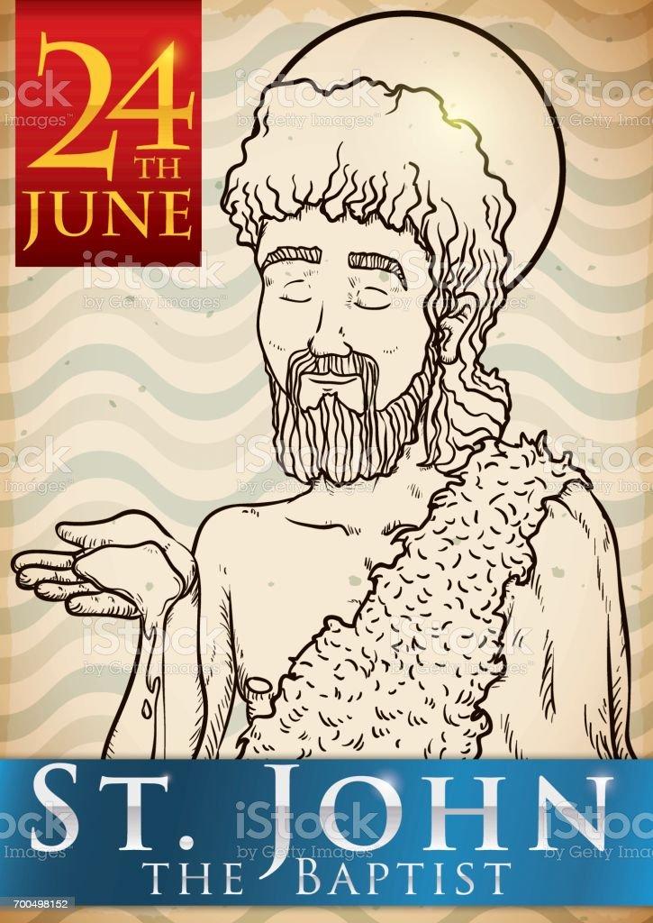 Hand Drawn Design for Saint John's Eve in June 24