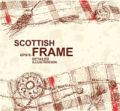 Hand Drawn Detailed Scottish Background