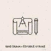 istock Hand Drawn Development Icon with Editable Stroke 1269826846