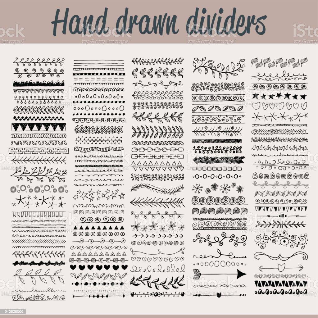 Hand drawn Trennwände – Vektorgrafik