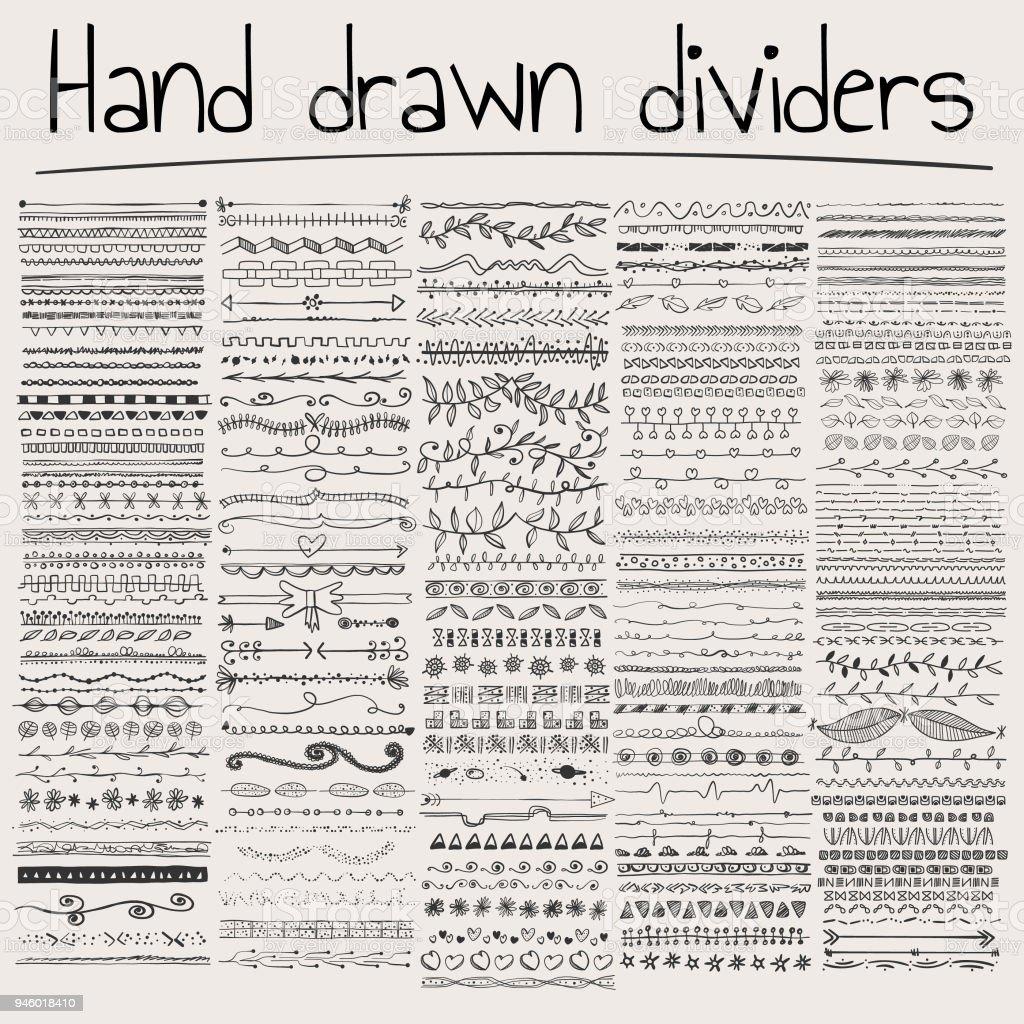 Divisores de dibujo a mano - ilustración de arte vectorial
