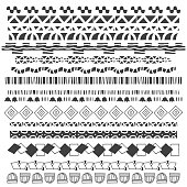 Vector illustration of a set of hand drawn dividers