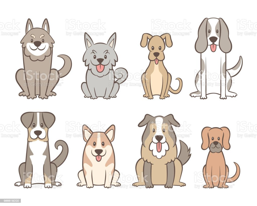 Hand Drawn Dog Collection Stock Illustration Download Image Now