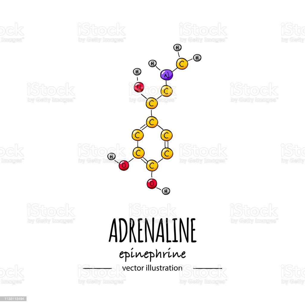Ilustración De Dibujado A Mano Doodle Adrenalina Fórmula