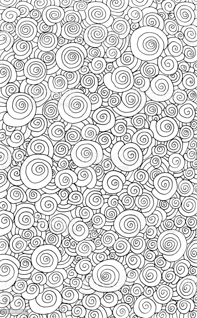 Adult coloring pages black and white ~ Hand Drawn Doodle Difficult Circle Abstract Adult Coloring ...