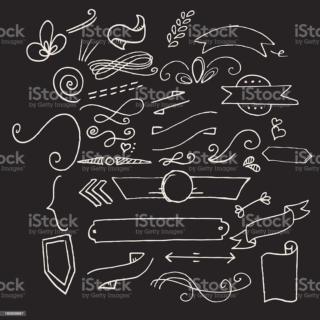 Hand drawn doodle elements royalty-free hand drawn doodle elements stock vector art & more images of decoration