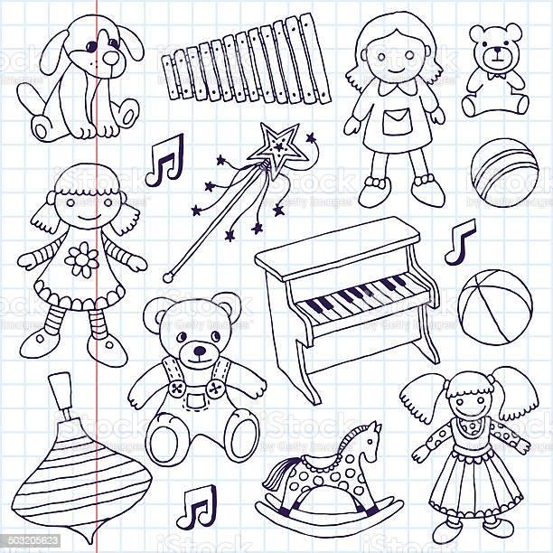 Hand drawn doodle girls toys set vector illustration school notebook vector id503205623?b=1&k=6&m=503205623&s=612x612&h= kastw1ze ogg5oga9cf jxgxa0ddwcvve ztyute3e=