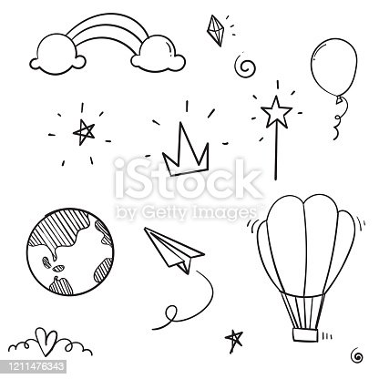 istock hand drawn doodle icon collection illustration cartoon style vector 1211476343