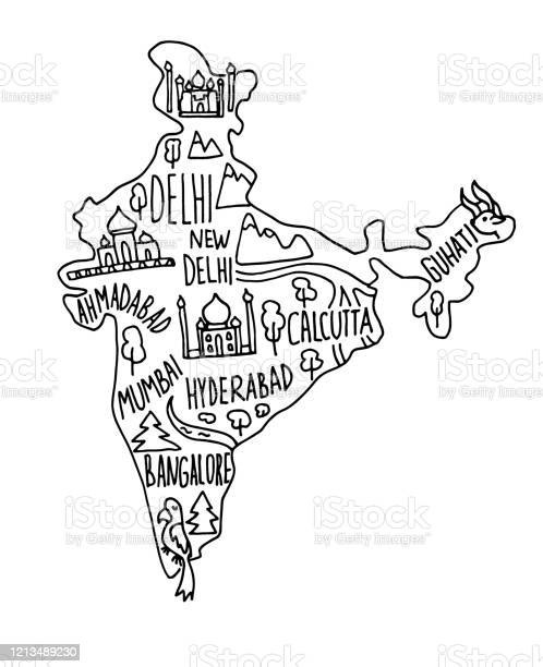 Tourist Places In Delhi Drawing