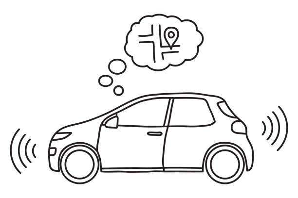Autonomes Auto Vektorgrafiken und Illustrationen - iStock