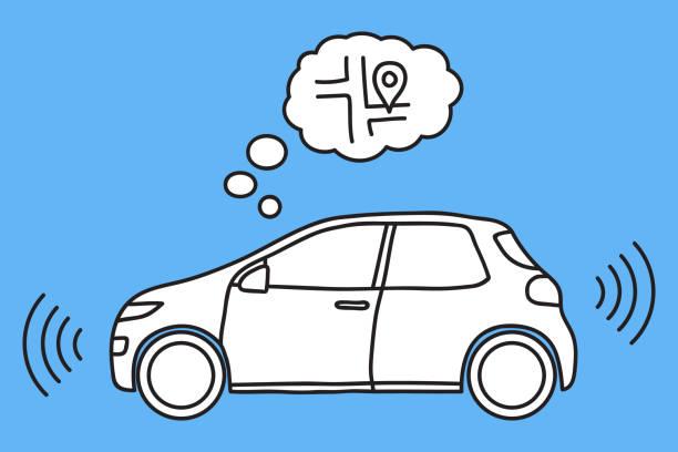 Selbstfahrende Autos Vektorgrafiken und Illustrationen - iStock