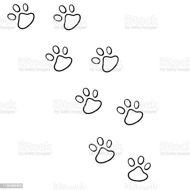 Hand drawn doodle of animal footprint with cartoon style vector vector id1195568562?b=1&k=6&m=1195568562&s=612x612&h=e77nugtljcxbfhixeivy zszo64r58dzhvyosdtqc5u=