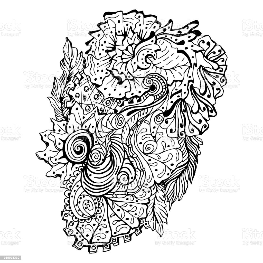 Hand drawn doodle outline magic line art element royalty-free hand drawn doodle outline magic line art element stock vector art & more images of abstract