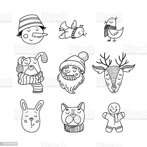 Hand drawn doodle set of christmas characters vector id1030969688?b=1&k=6&m=1030969688&s=612x612&h=rzb8cii9imszzd o0njflldm1t3kvo4mzbr9dn4aila=