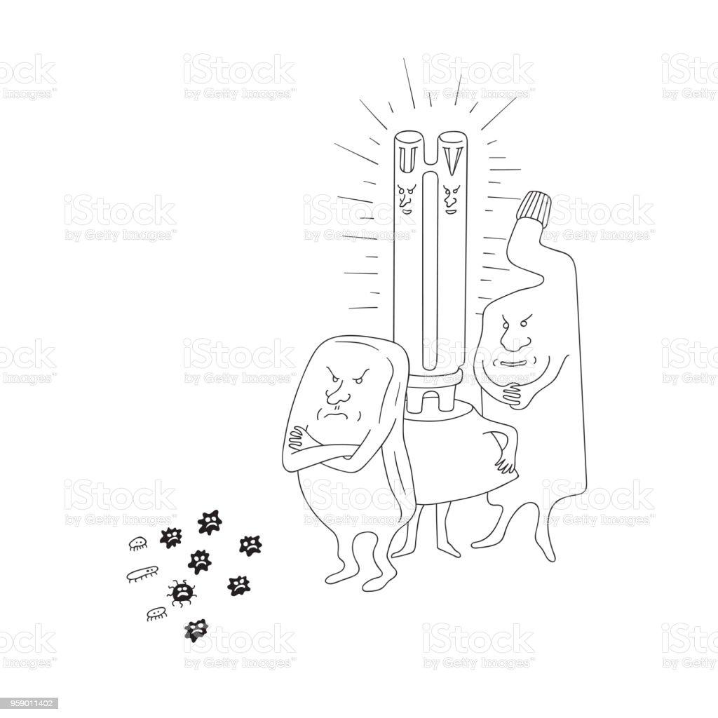Cizilmis Doodle Kroki Hat Sanat Vektor Karikatur Cizim Sabun Uv