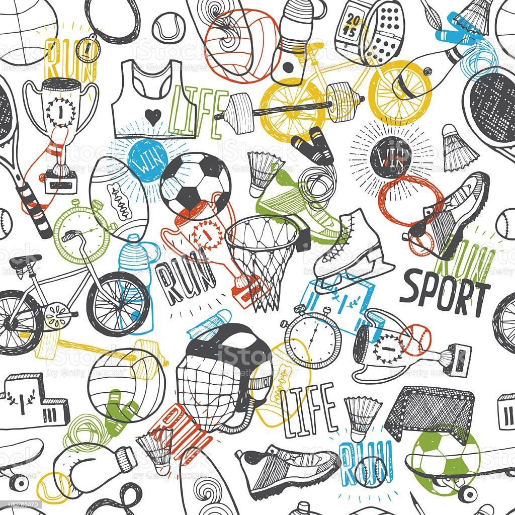рисованные спорт картинки