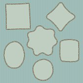 Hand drawn, doodle style creative decorative frames. Vector illustration