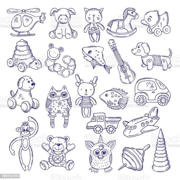 Hand drawn doodle toys for kids vector sketches isolate on white vector id683553284?b=1&k=6&m=683553284&s=612x612&h= 82ppwowpeirsq pftojfsoubkv7o i5fogcp8cdz9u=