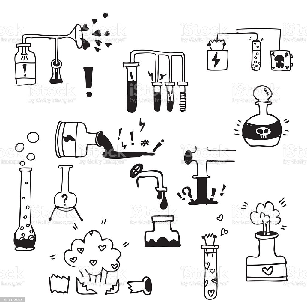 hand drawn doodles factory vector art illustration