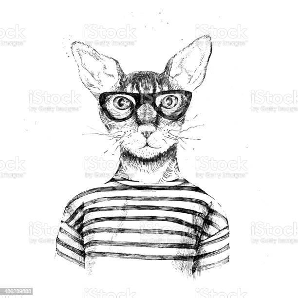Hand drawn dressed up hipster cat vector id486289888?b=1&k=6&m=486289888&s=612x612&h=qrigjn otclccoryqmpj ysnenb7ad2cqu0eee1kvhi=